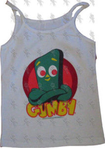GUMBY - White 'Gumby' Girls Singlet - 1