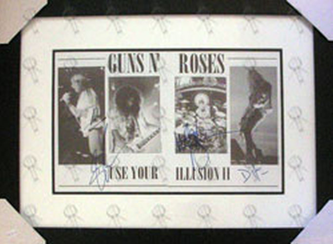 GUNS N ROSES - Custom Framed \'Use Your Illusion II\' Signed Print ...