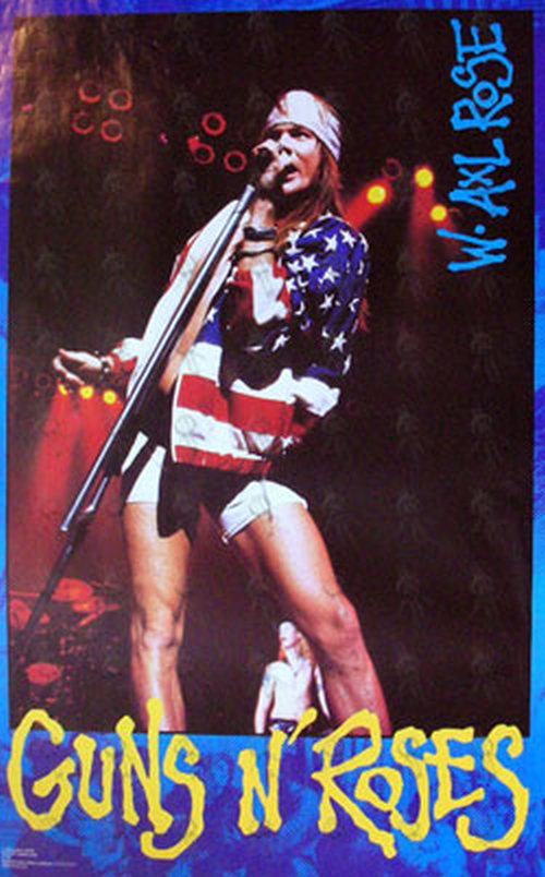Guns N Roses Early 90 S Axl Rose Photo Poster Posters
