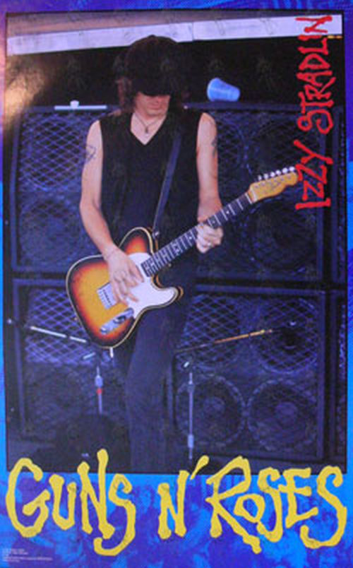 GUNS N ROSES - Early-90's 'Izzy' Photo Poster - 1