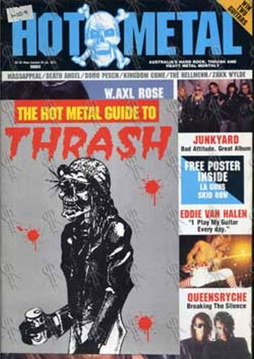 'Hot Metal' - Axl Rose On Cover