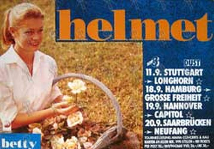 HELMET - 'Betty' Album/1994 German Tour Poster - 1