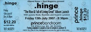 .HINGE ROOK BUSHIDO SUPERB LYREBIRD - 'The Rise And Fall Of Living Great' Album Launch @ The Prince Bandroom
