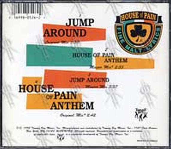 House Of Pain Jump Around House Of Pain Anthem Cd