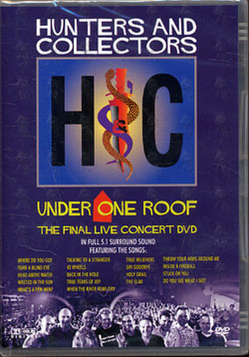 Hunters And Collectors Under One Roof Dvds Rare Records