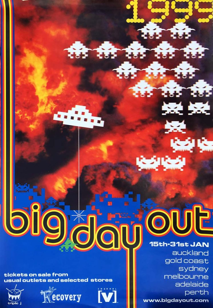 Big Day Out 1999 Big Day Out Festival Poster Posters