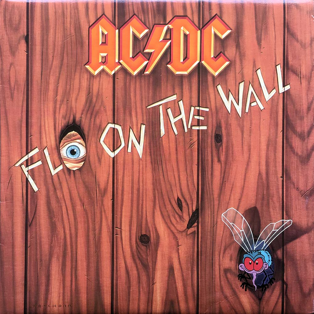 Ac Dc Fly On The Wall 12 Inch Lp Vinyl Rare Records