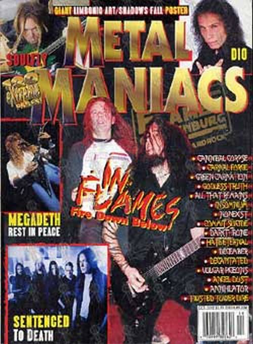 IN FLAMES - 'Metal Maniacs' - October 2002 - 1