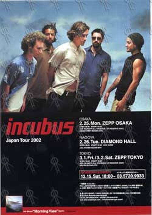 INCUBUS - Feb/Mar 2002 Tour Mini-Poster Flyer - 1