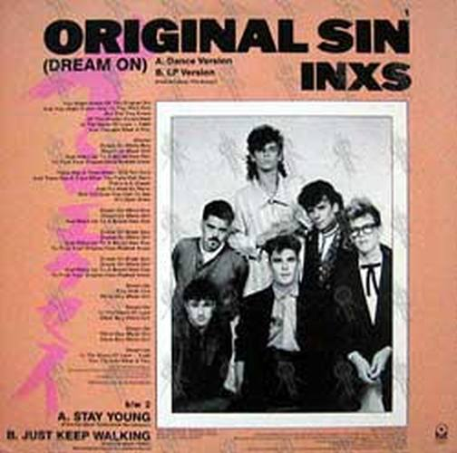 Inxs Original Sin Dream On 12 Inch Lp Vinyl