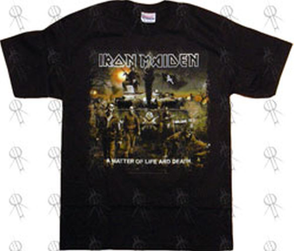 Iron Maiden Black A Matter Of Life And Death T Shirt