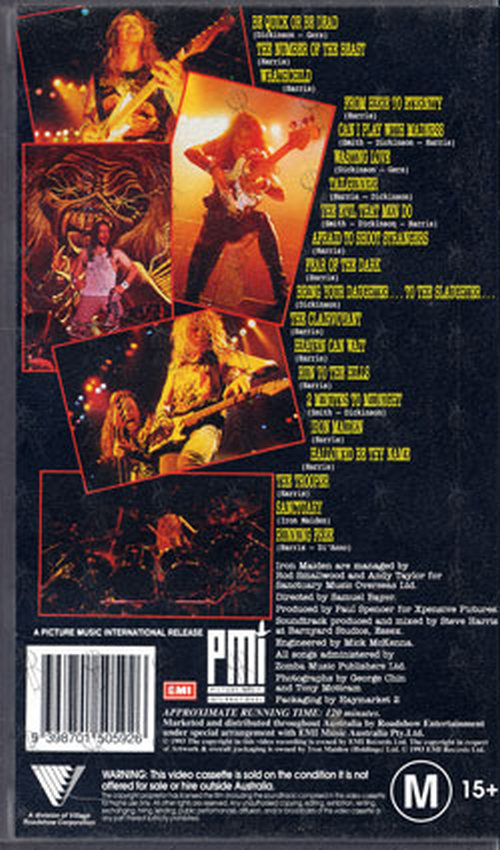 Iron Maiden Donington Live Video Tapes Rare Records