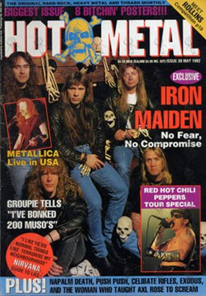 IRON MAIDEN - 'Hot Metal' - May 1992 - Iron Maiden On Cover - 1