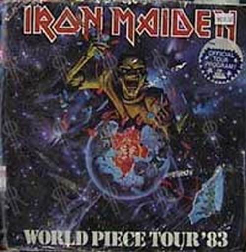 IRON MAIDEN - 'Iron Maiden:World Piece Tour '83' Official Tour Program - 1