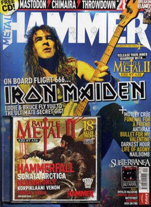 IRON MAIDEN - 'Metal Hammer' - September 2005 - Steve Harris On Cover - 1