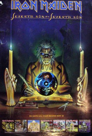 IRON MAIDEN - 'Seventh Son Of A Seventh Son' Album Promo Poster - 1
