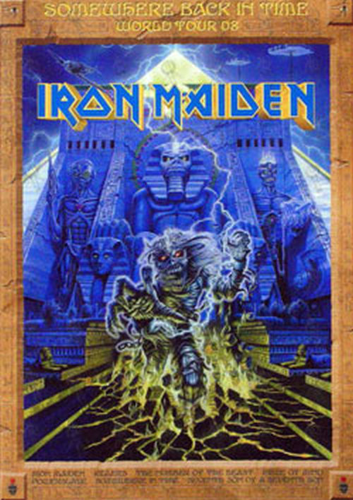 IRON MAIDEN - 'Somewhere Back In Time' World Tour '08 Tour Program - 1