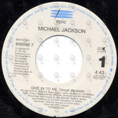 JACKSON-- MICHAEL - Give In To Me - 3