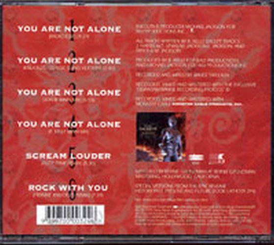 JACKSON-- MICHAEL - You Are Not Alone - 2