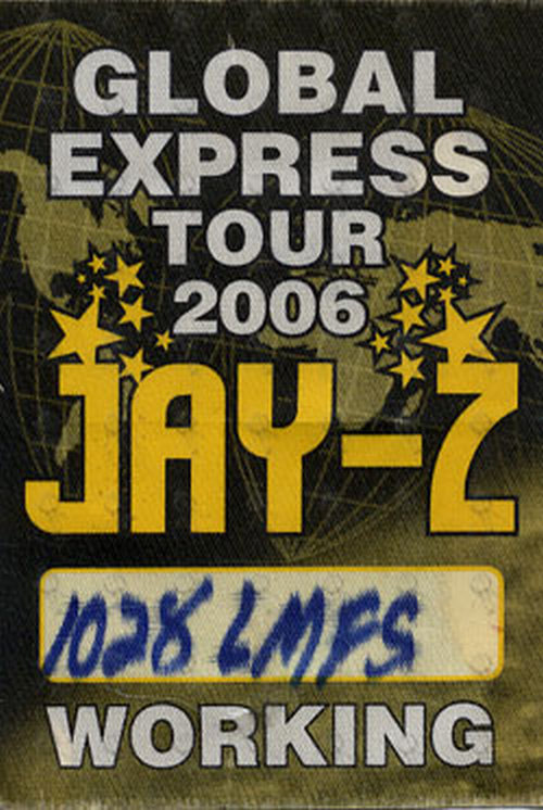 JAY-Z - Unused 'Global Express Tour 2006' Working Cloth Pass Sticker - 1