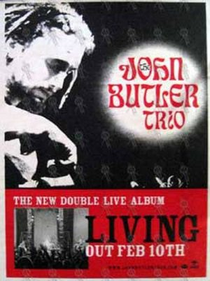 JOHN BUTLER TRIO-- THE - 'Living' Album Poster - 1