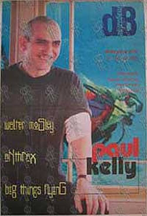 KELLY-- PAUL - 'dB' - No.109 17 to 30 January 1996 - Paul Kelly On The Cover - 1