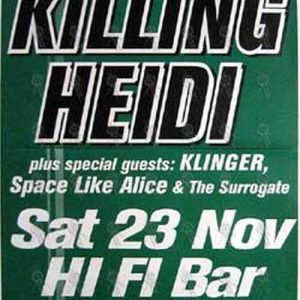 KILLING HEIDI - 'Hi Fi Bar