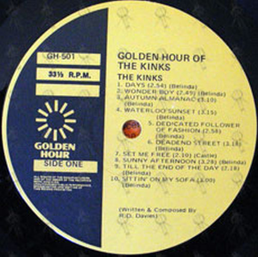 Kinks The Golden Hour Of The Kinks 12 Inch Lp Vinyl
