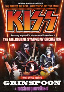 KISS - 2004 Australian Tour Postcard Flyer - 1