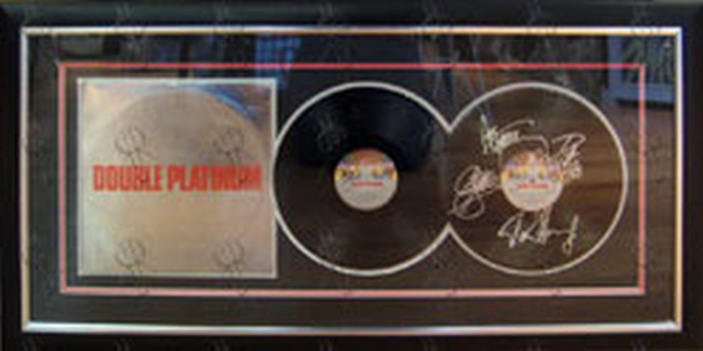 KISS - 'Double Platinum' Fully Autographed Framed Vinyl - 1