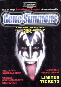 KISS - Gene Simmons Spoken Word Promo Postcard - 1