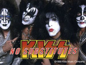 KISS - 'No Substitutes' Sticker - 1