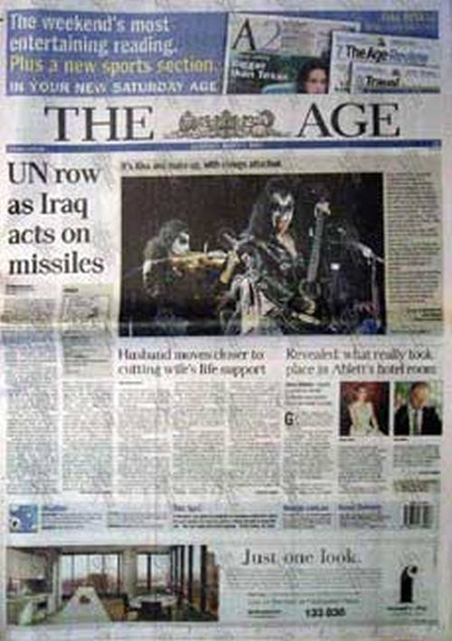 KISS - 'The Age' - March 1 2003 - Kiss On The Cover - 1
