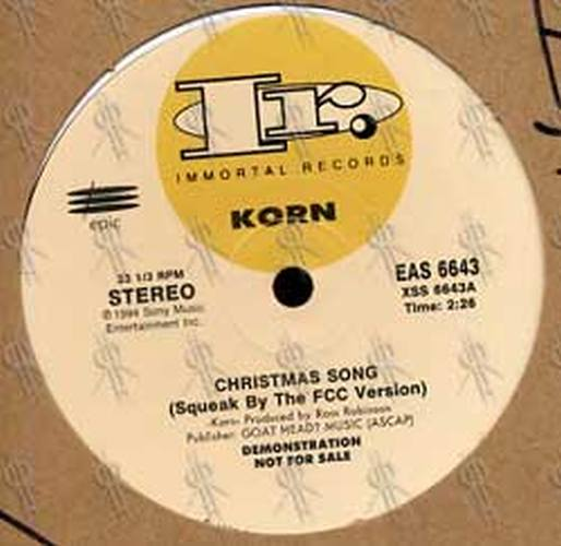 KORN - Christmas Song (10 Inch, Books, Vinyl) | Rare Records