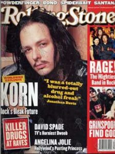 KORN - 'Rolling Stone' - Jan 2000 - Jonathan Davis On Cover - 1