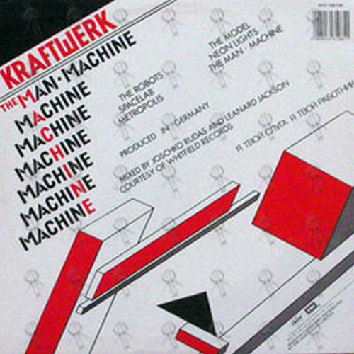 Kraftwerk Man Machine 12 Inch Lp Vinyl Rare Records