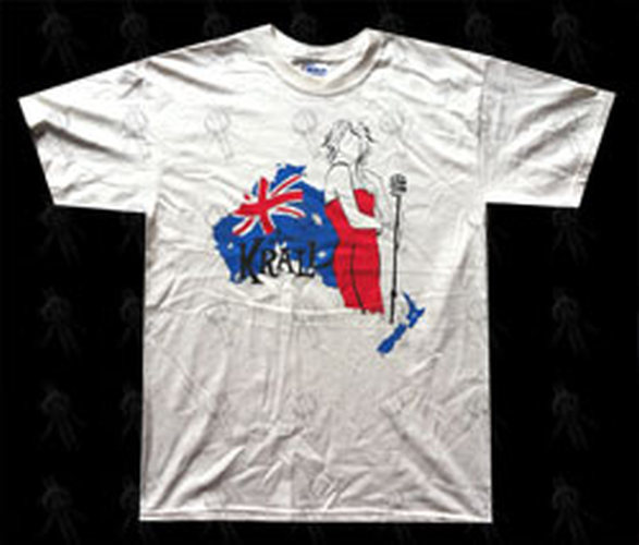 KRALL-- DIANA - 'Quiet Nights' 2010 Oz / Nz Tour Bone/Cream T-Shirt - 1