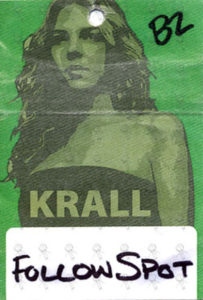 KRALL-- DIANA - 'Quiet Nights' Australian Tour Working Pass