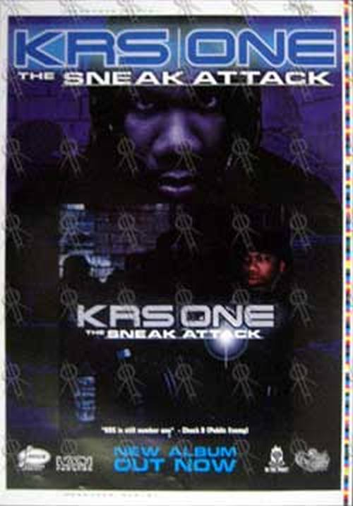 KRS ONE - 'The Sneak Attack' Album Promo Poster Artist Proof - 1