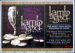 LAMB OF GOD - Large 'Sacrament' Album Laminated Display - 1