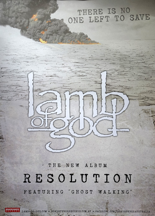 LAMB OF GOD - Resolution Album Promo Poster - 1