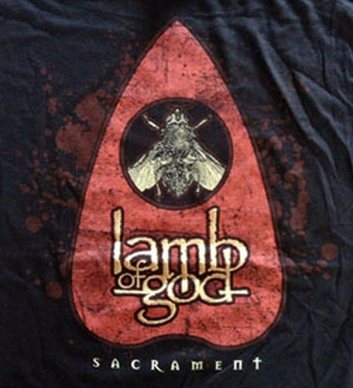 LAMB OF GOD - Sacrament Fly Design Black T-Shirt - 2