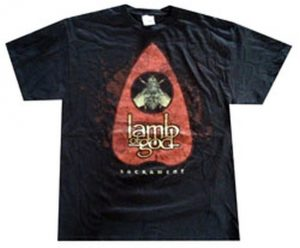 LAMB OF GOD - Sacrament Fly Design Black T-Shirt - 1