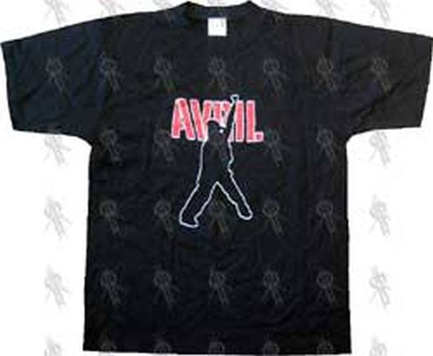 LAVIGNE-- AVRIL - Black 'Avril' Logo T-Shirt - 1