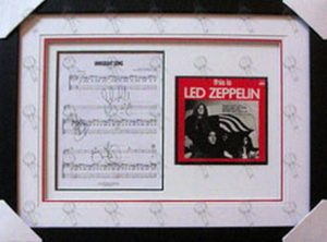 LED ZEPPELIN - Custom Framed 'Immigrant Song' 7 Inch Vinyl And Sheet Music - 1