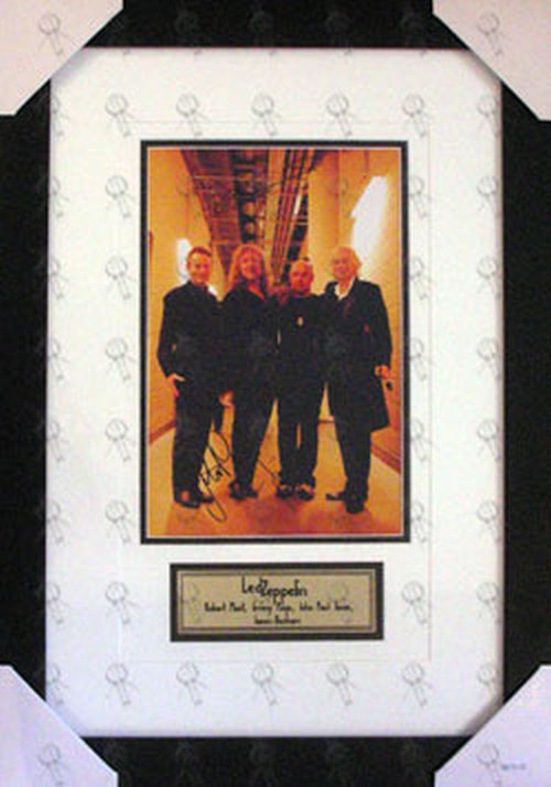 LED ZEPPELIN - Custom Framed 'Pre-Show' Signed Photograph With Plaque - 1