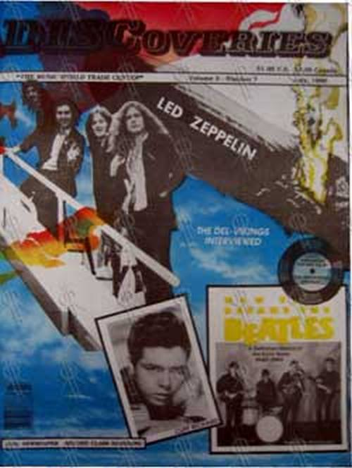 LED ZEPPELIN - 'Discoveries' - Vol 3 No 7 - July 1990 - 1