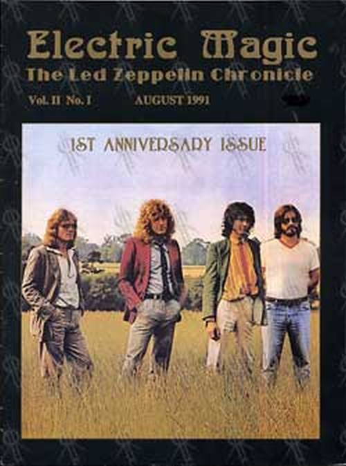 LED ZEPPELIN - 'Electric Magic: Led Zeppelin Chronicle' - Vol II No I - August 1991 - 1
