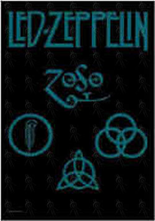 Led Zeppelin Symbols Design Fabric Banner Miscellaneous Other