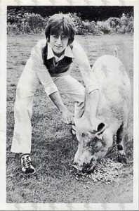LENNON-- JOHN - Black & White Postcard - 1